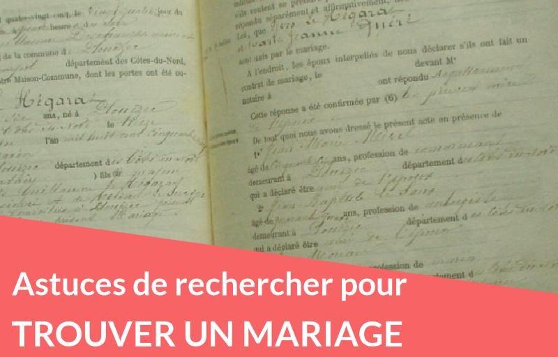 Astuces de recherche pour trouver un mariage
