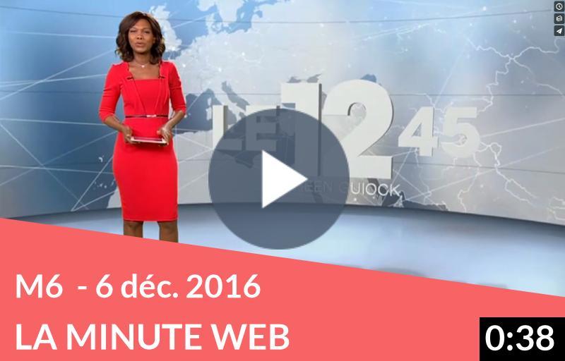 M6 – Journal télévisé du 6 décembre 2016 – La Minute Web