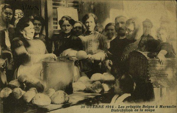 Réfugiés belges à Marseille en 1914 1918