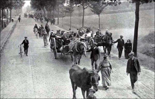 Fuite des populations civiles en 1914 1918