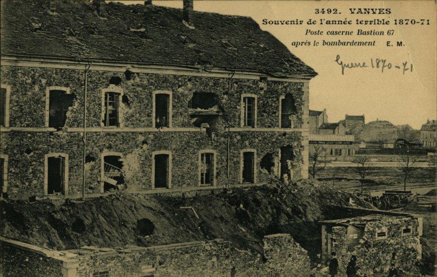 Vanves en 1870 1871 la caserne bombardée