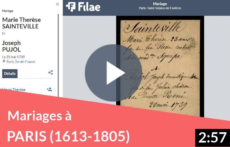Mariages à Paris (1613-1805) une collection du fonds Andriveau