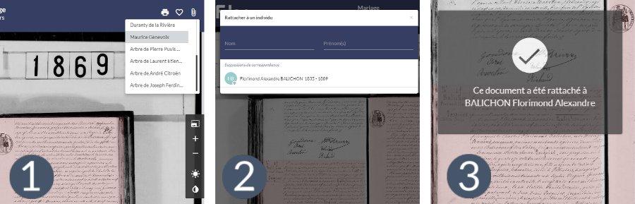 Les différentes étapes pour rattacher une archive