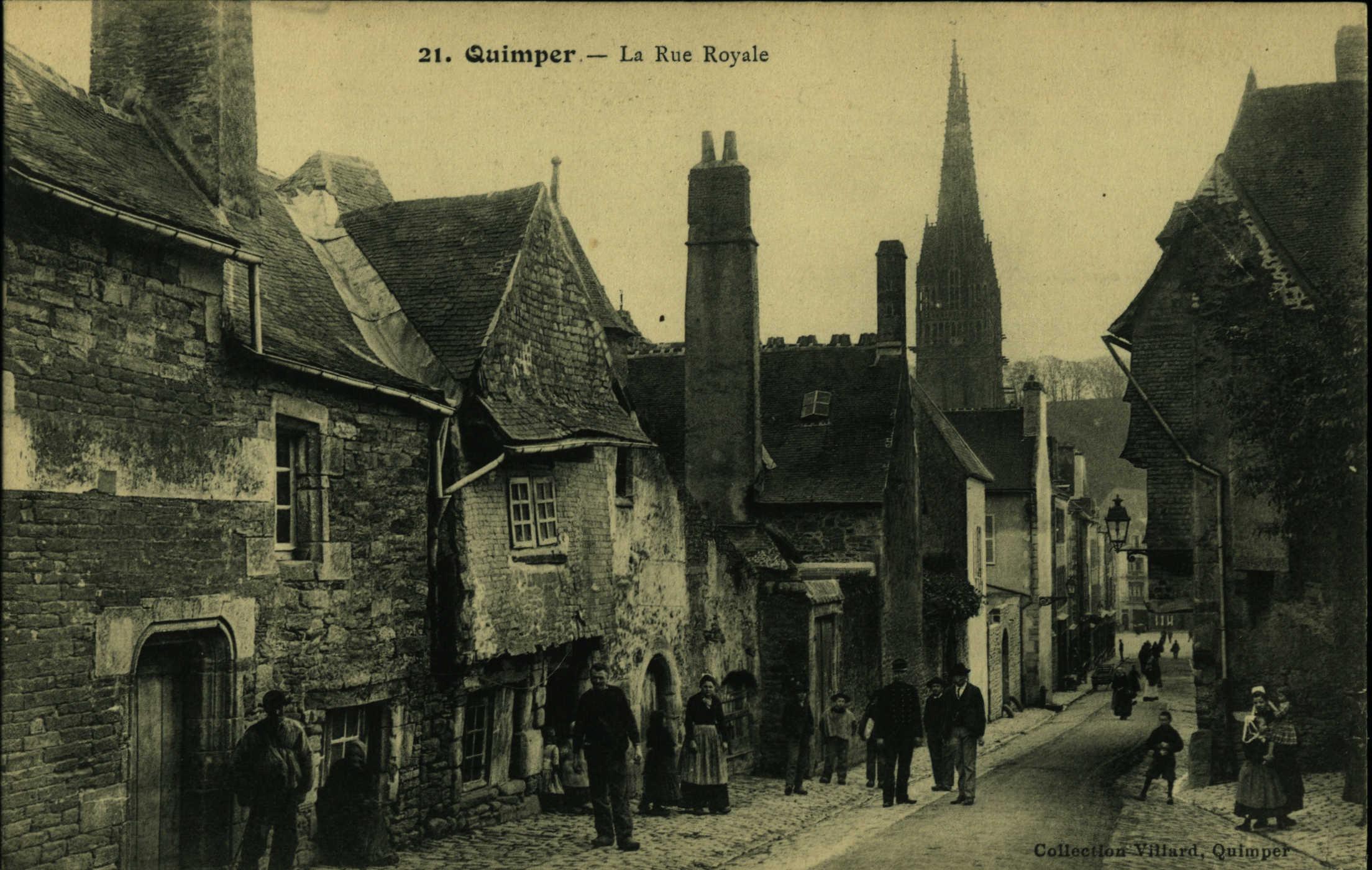 Rue royale de Quimper au début du siècle