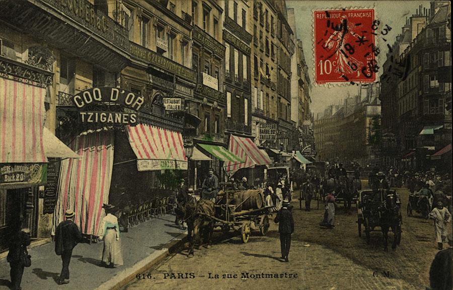 La rue Montmartre au début du siècle