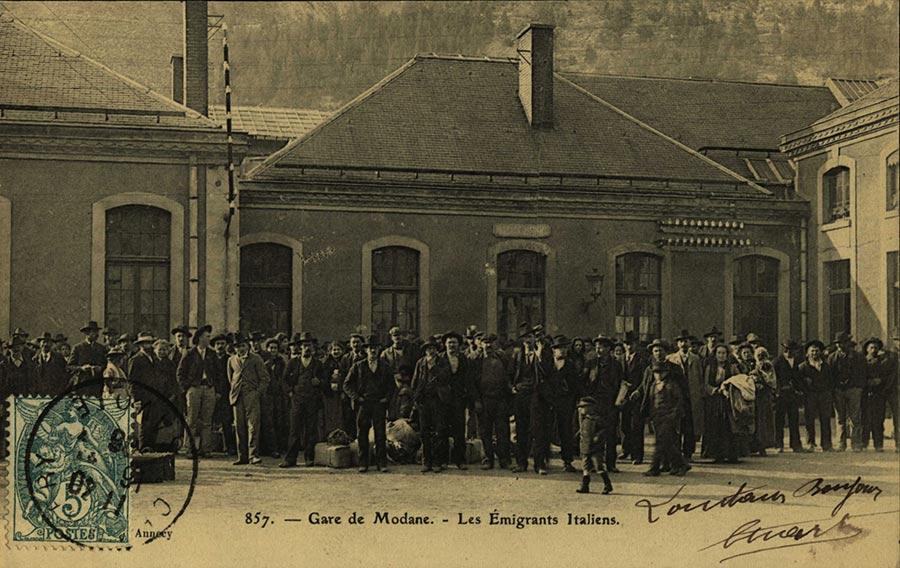 Emigrants italiens à Modane