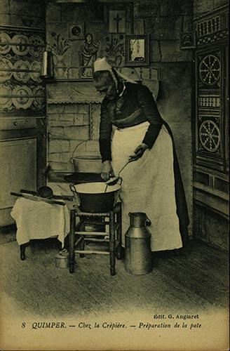 Quimper préparation des crêpes
