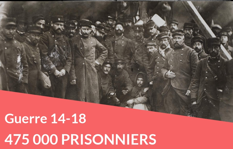 Accès gratuit du 8 au 12 novembre : 475 000 prisonniers de guerre en 14-18