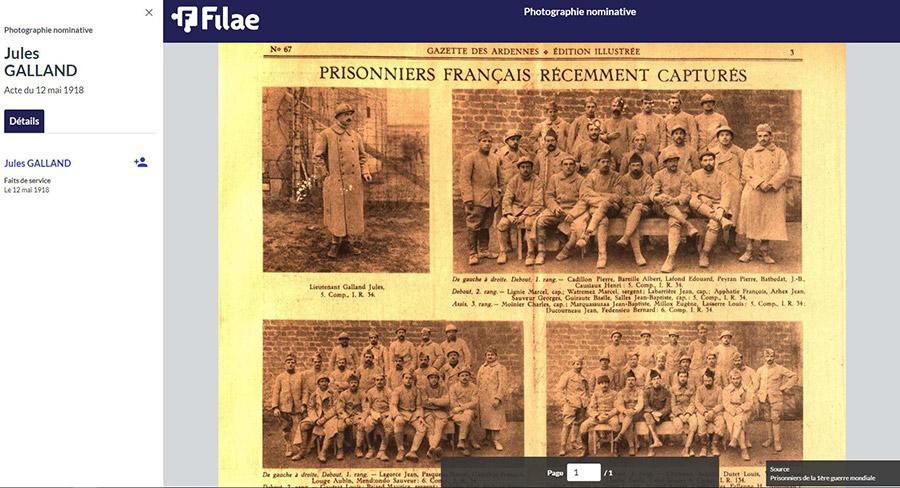 Photos de prisonniers