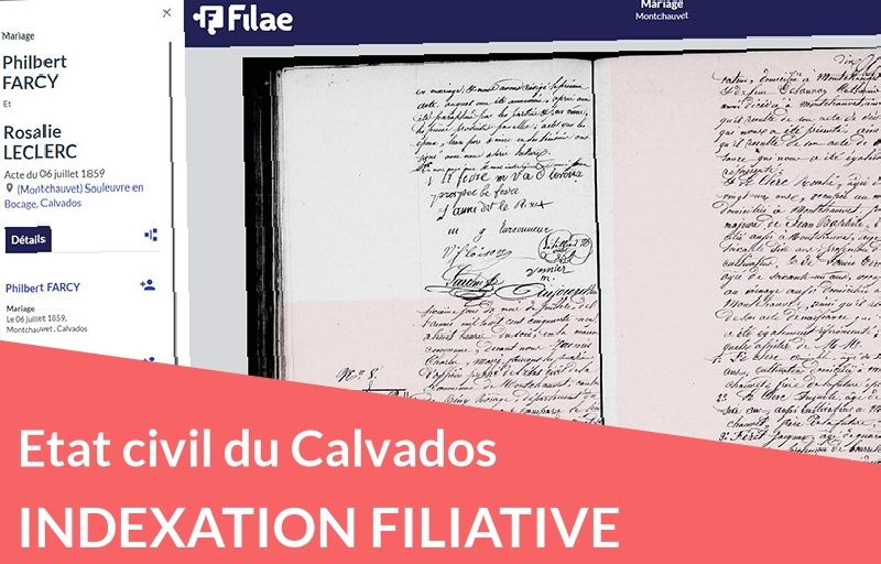 Nouveau : indexation filiative du Calvados
