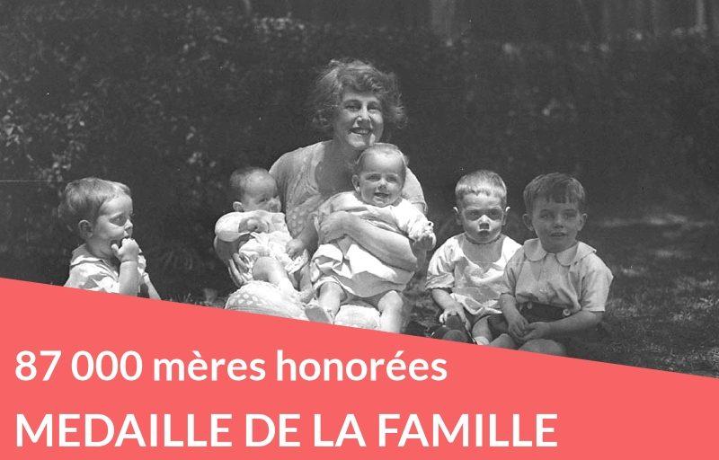 87 000 mères honorées par la médaille de la Famille Française