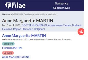Relevés de Belgique