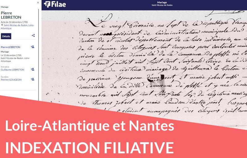 Nouveau : Nantes et Loire-Atlantique : indexation filiative de l'état civil du XIXème