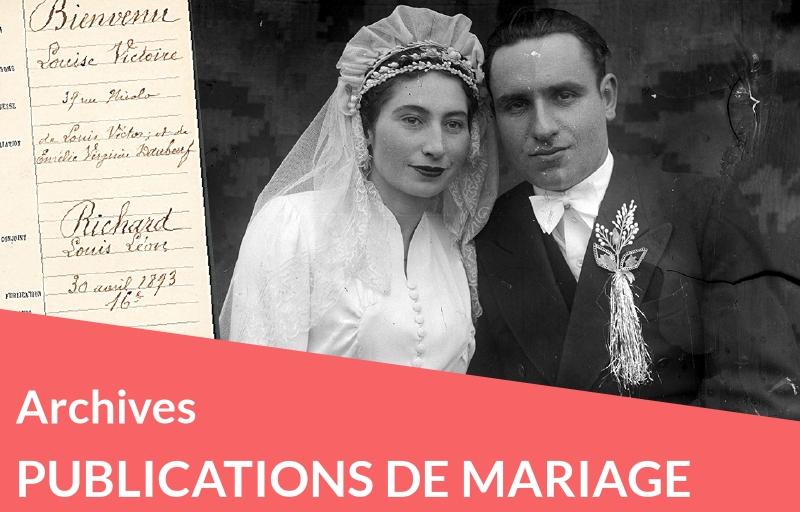 Une source : les publications de mariage