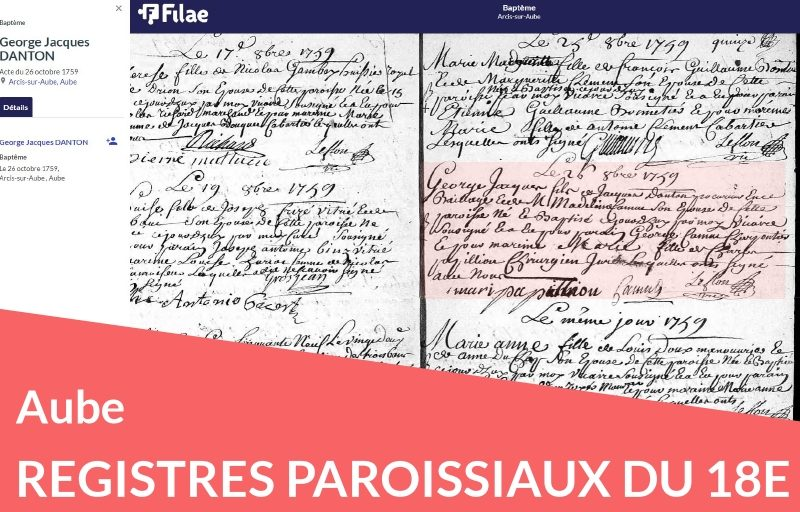 Nouveau : les registres paroissiaux de l'Aube numérisés et indexés