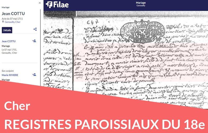Nouveau : les registres paroissiaux du Cher numérisés et indexés