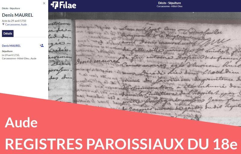 Registres paroissiaux de l'Aude numérisés et indexés
