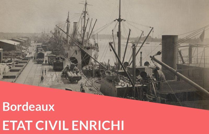 Nouveau ! Etat civil enrichi de Bordeaux
