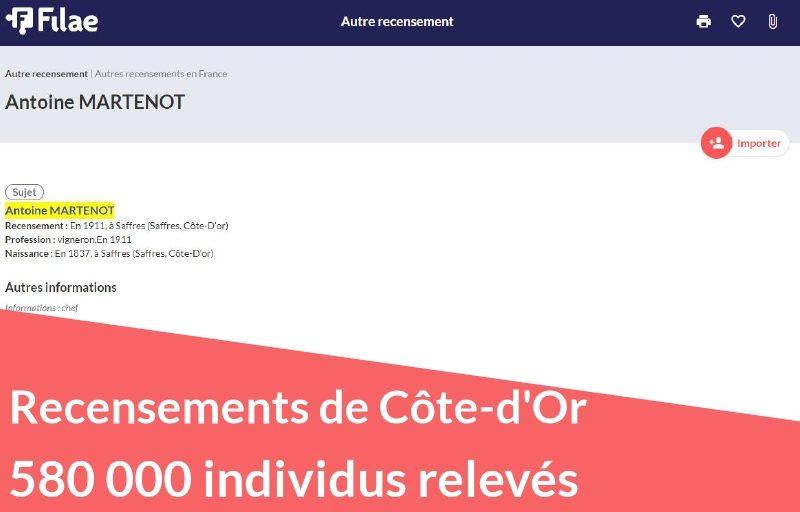 Recensements de Côte-d'Or : 580 000 individus relevés
