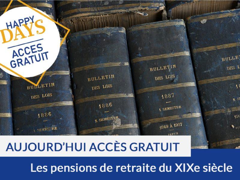 Happy Days : accès gratuit aux pensions de retraite du XIXe siècle