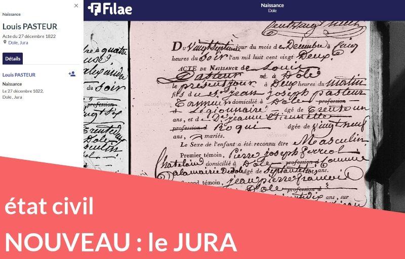 Nouveau : état civil du Jura