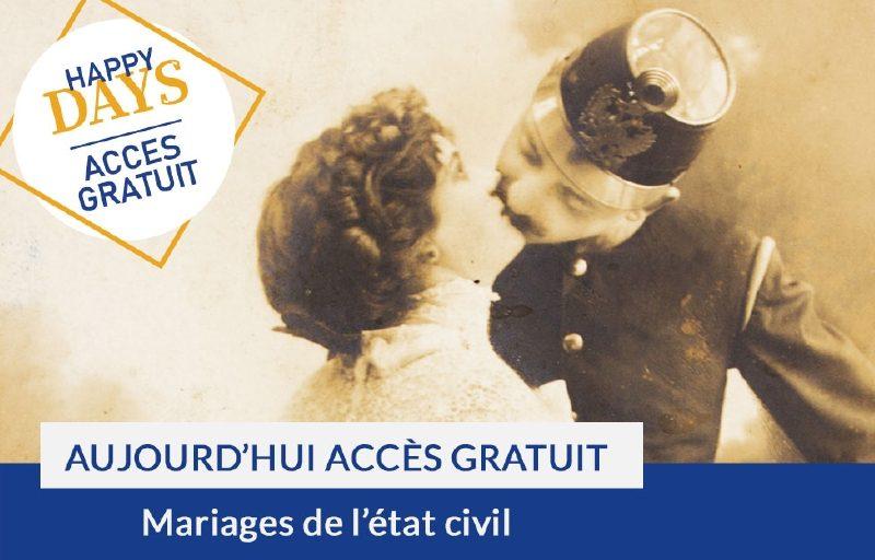 Happy Days : accès gratuit aux mariages de l'état civil