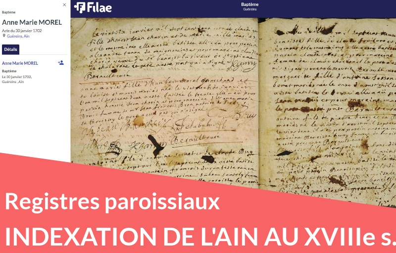 Nouveau : registres paroissiaux de l'Ain au XVIIIe siècle