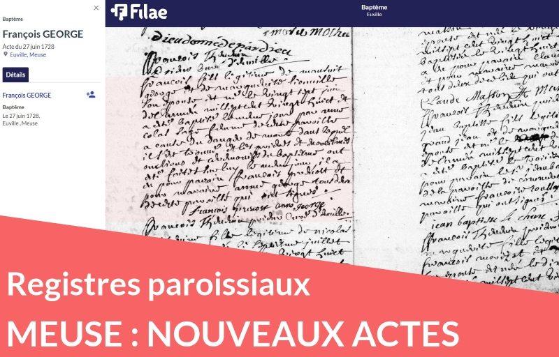 Et de 10 ! nouveaux registres paroissiaux de la Meuse