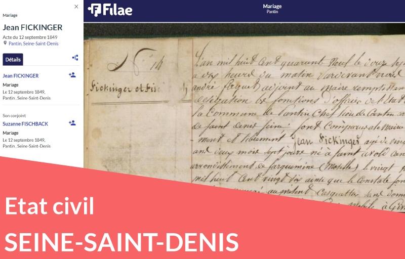 Nouveau : état civil de Seine-Saint-Denis