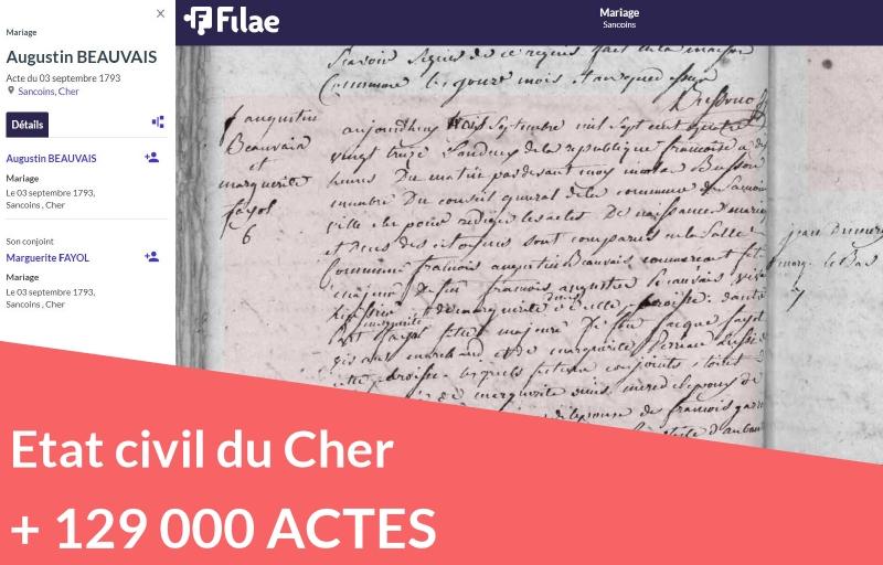 Etat civil du Cher : 129 000 actes supplémentaires