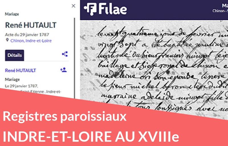 Nouveau : registres paroissiaux d'Indre-et-Loire (XVIIIe siècle)