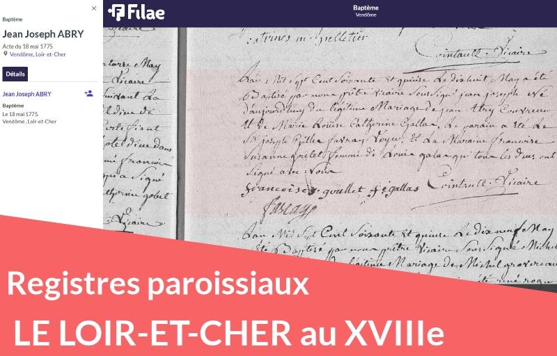 Nouveau : registres paroissiaux du Loir-et-Cher (XVIIIe siècle)