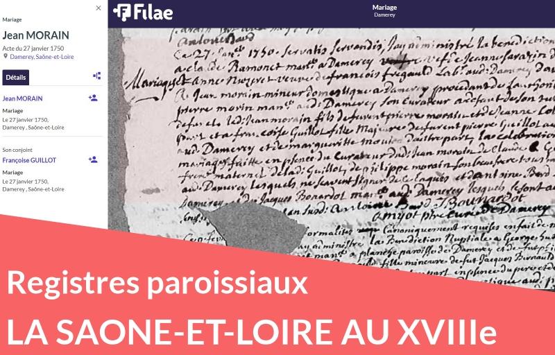 Nouveau : registres paroissiaux de Saône-et-Loire (XVIIIe siècle)