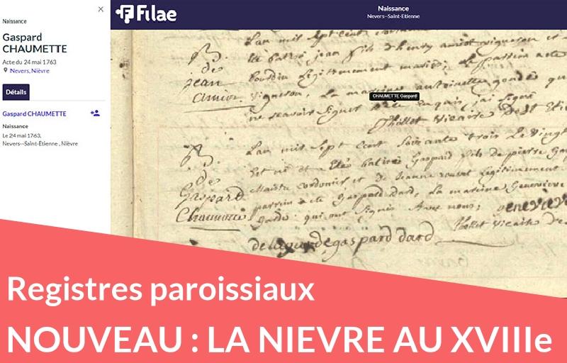 Nouveau : registres paroissiaux de la Nièvre (XVIIIe siècle)