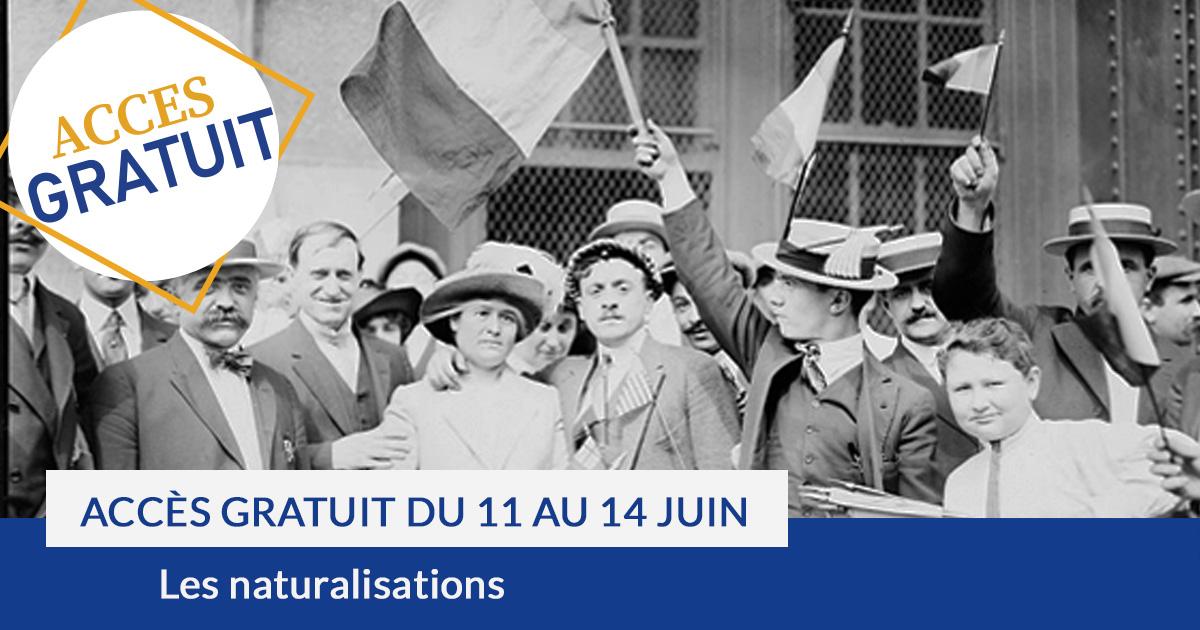 Accès gratuit aux naturalisations 11 au 14 juin 2020