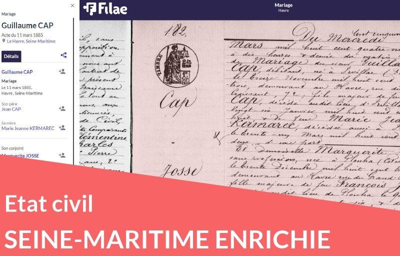 Nouveau : état civil de Seine-Maritime