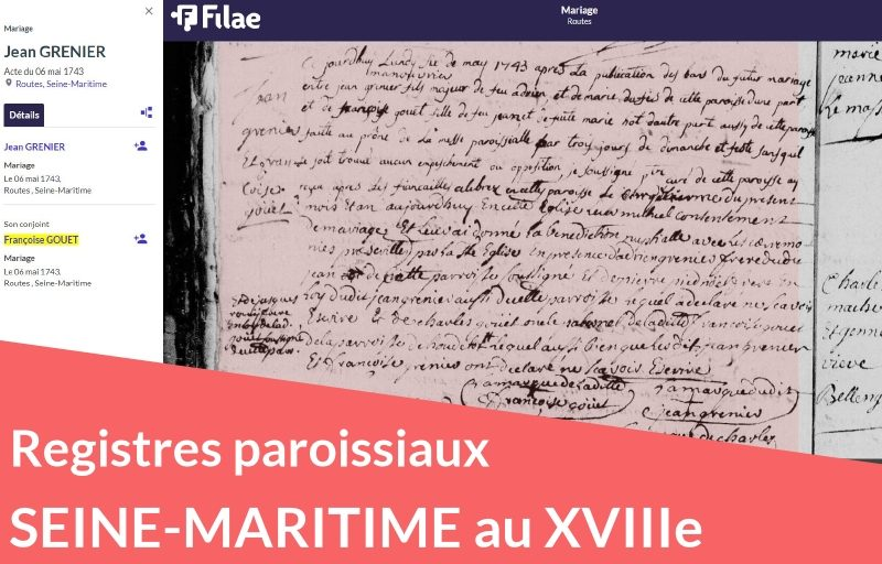 Nouveau : registres paroissiaux de Seine-Maritime (XVIIIe siècle)