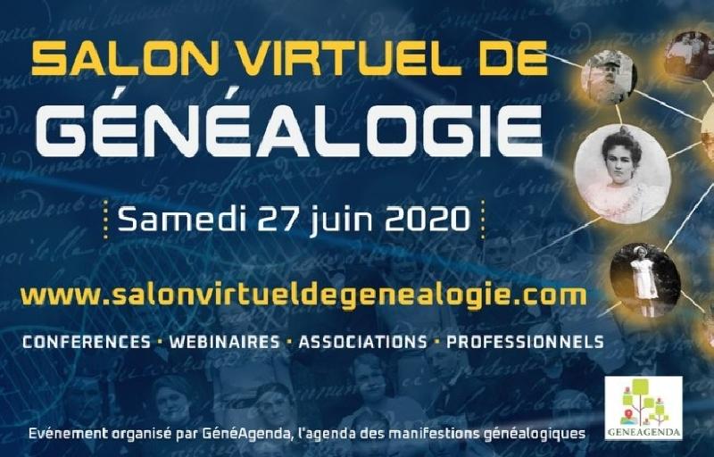 Salon virtuel de généalogie – samedi 27 juin 2020