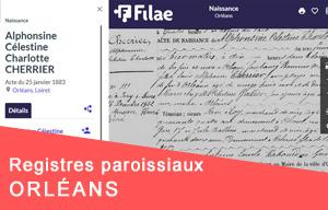 Nouveau : registres paroissiaux d'Orléans (XVIIIe siècle)