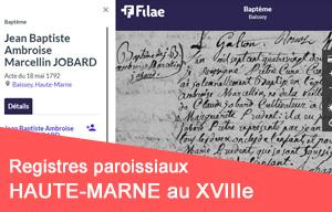 Nouveau : registres paroissiaux de Haute-Marne (XVIIIe siècle)