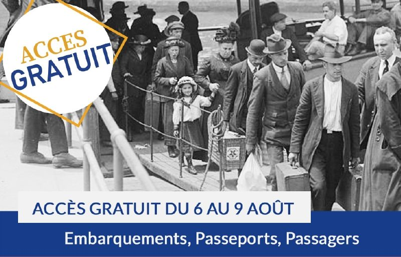 Accès gratuit aux embarquements, passeports et passagers du 6 au 9 août 2020