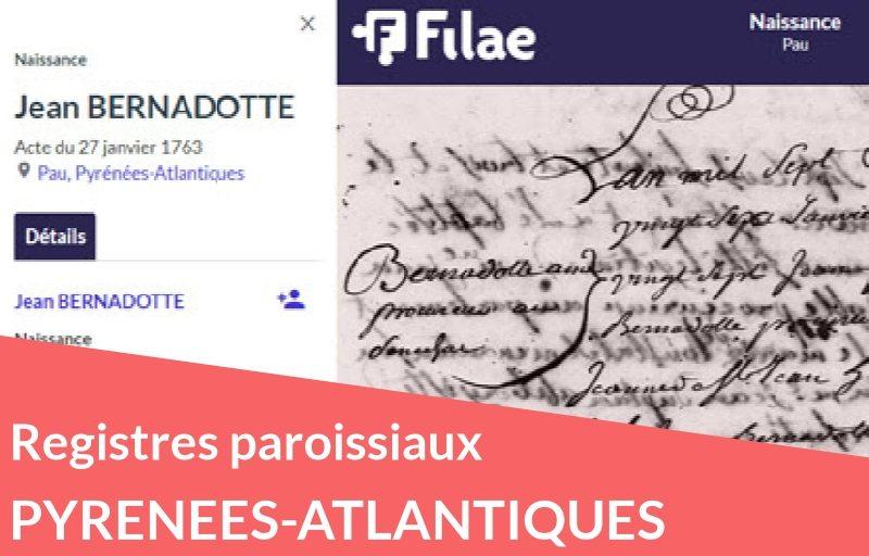 Nouveau : registres paroissiaux des Pyrénées-Atlantiques