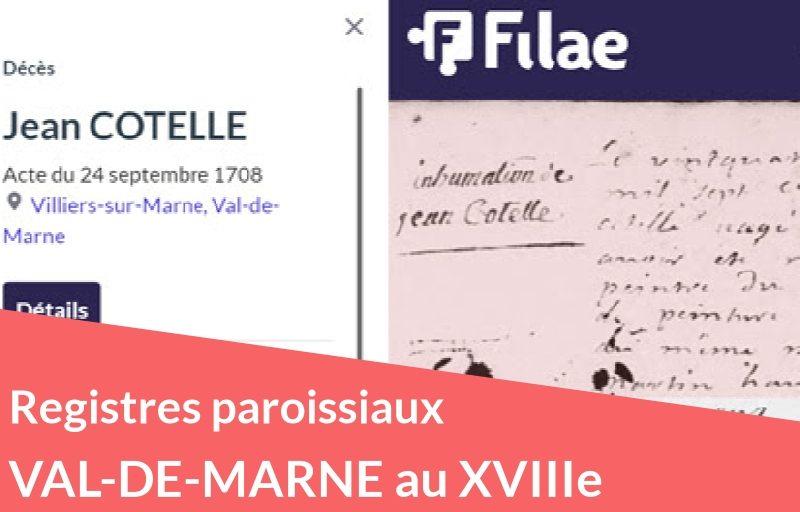 Nouveau : registres paroissiaux du Val-de-Marne