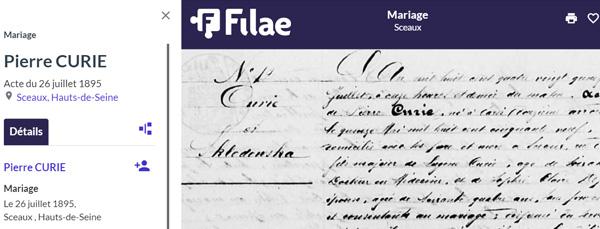Mariage de Pierre et Marie Curie