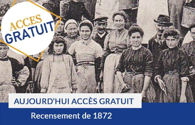 Accès gratuit au recensement de 1872