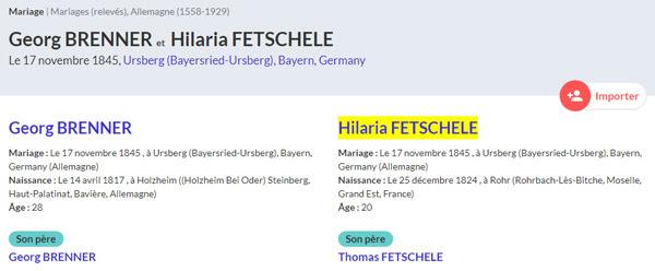 relevés d'actes en Allemagne