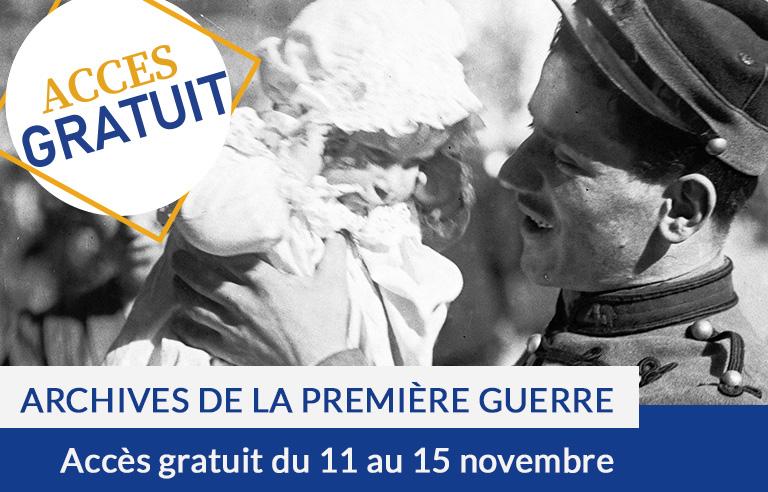 Accès gratuit : Archives de la Première Guerre mondiale