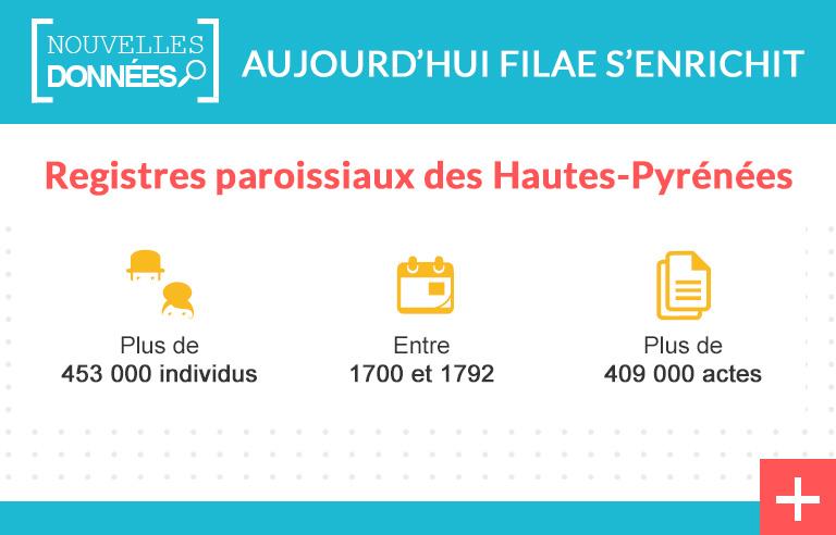 Hautes-Pyrénées : les registres paroissiaux du XVIIIe siècle indexés