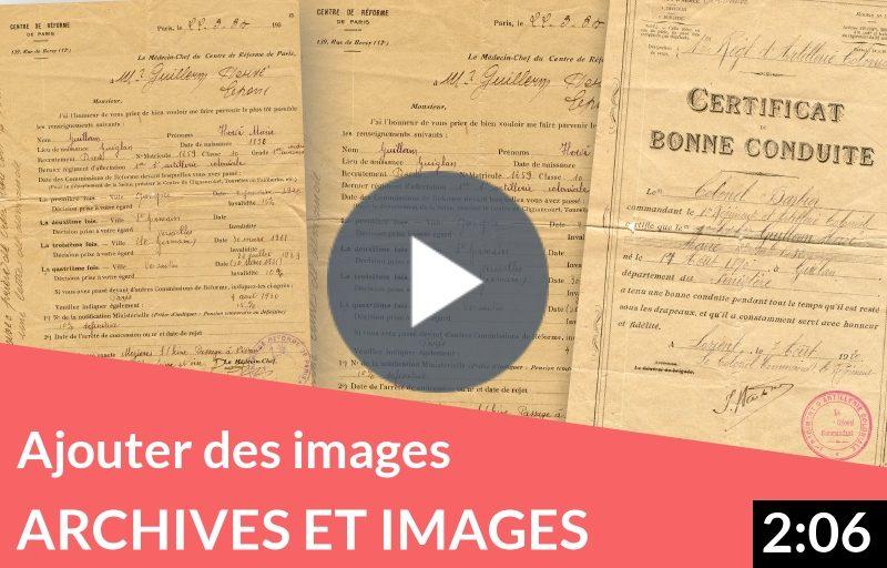 Enrichissez votre généalogie d'archives familiales et d'actes numérisés