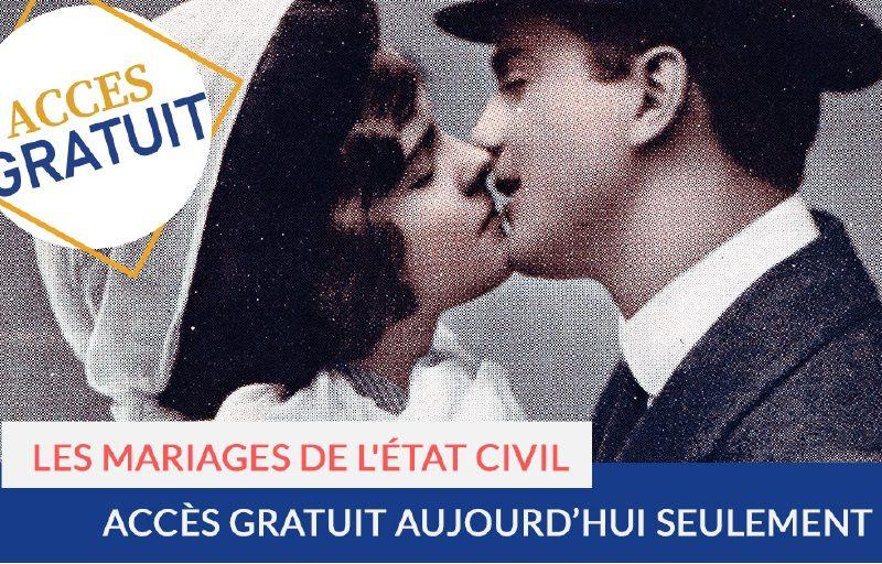 Accès gratuit aux mariages de l'état civil, 12 février 2021
